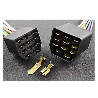 Tama Kabel/Draht Multi Plug Block Steckverbinder 11-Fach mit Crimpklemmen (5 Set Stecker/Buchse)