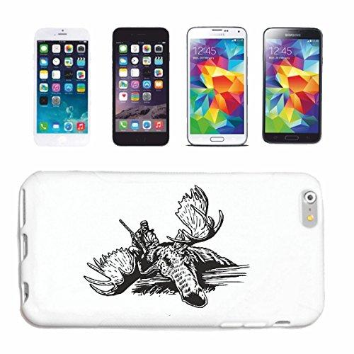 Reifen-Markt Handyhülle iPhone 5 / 5S JÄGER BEI DER Hirsch Jagd WILD GROSSWILD REH Wildschwein Hardcase Schutzhülle Handycover Smart Cover für Apple iPhone in Weiß