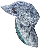 Sterntaler Jungen Mütze Schirmmütze m. Nackenschutz, Blau (Jeansblau 348), 53
