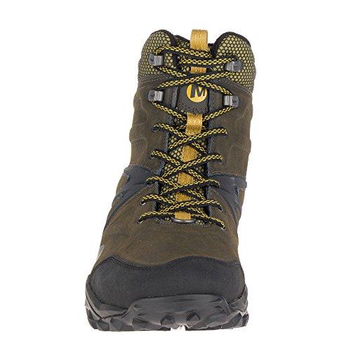 Merrell Capra Glacial Ice+ Mid Waterproof, Chaussures de Randonnée Hautes Homme, Noir brown