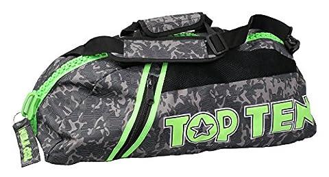 TOP TEN Rucksack - Tasche CAMOUFLAGE grau grün GG