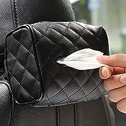 حامل جلدي متعدد الاستخدامات للمناديل الورقية لمسند الراس الخلفي في السيارة