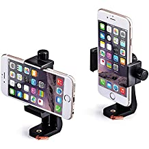 Zeadio soporte para smartphone, con función de rotación de 360grados y Monopod selfie Monopod trípode estabilizador adaptador de montura tornillo Agujero para iPhone Samsung Huawei y más teléfonos