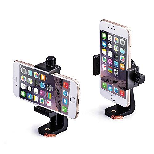 zeadio Universal Smartphone Stativ Adapter, Handy Halterung Mount Adapter, Selfie Stick Einbeinstativ Verstellbare Klemme, vertikale und horizontale Swivel Halterung, für iphone, Samsung, und alle Handys