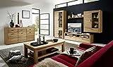 Bergen 6 Wohnzimmer Komplettset Wohnzimmerkombination Wohnwand Wildeiche Bianco