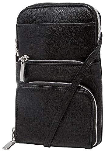 Mundi Miracle Damen Handtasche Geldbörse RFID Crossbody Bag, Schwarz (schwarz), Einheitsgröße - Rfid Handtasche Crossbody