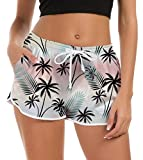 Boardshorts da Surf Casual da Donna Slim Fit Yoga Gym Activewear Pantaloncini da Bagno con Coulisse Regolabile Tasche Fitness Pantaloni Sportivi Bottom M