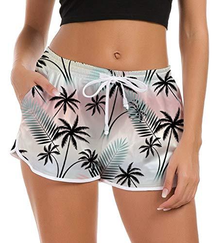 Damen Athletic-hose (Fanient Damen Badehose Schwimmhose Hawaiian Strandhose Workout Laufen Athletic Lounge Hose Wassersport Boardshorts Schnell Trocknendes Sommer Shorts Schwimmshorts S)