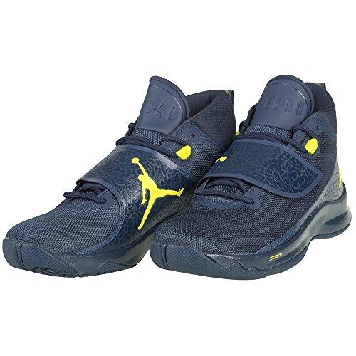 Nike Herren Super.Fly 5 PO Basketballschuhe Armory Navy/Armory Navy/Electrolime