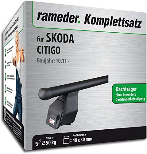 Rameder Komplettsatz, Dachträger Tema für Skoda CITIGO (118788-10126-10)