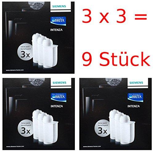 Siemens Brita Intenza Wasserfilter TZ70033 Kartuschen 3er (3er Pack)