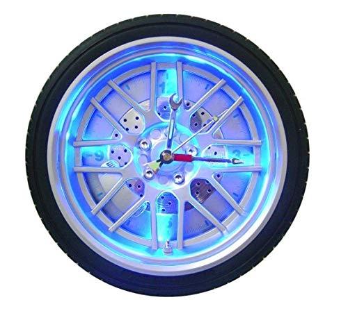 NZYDHK Neuankömmlinge kreative Led Digital Automotive Reifen Wanduhr exotische personalisierte LED-Licht wachsenden Uhr Auto Bar Dekor Uhr 27 cm Silber