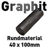 Graphit Rundmaterial 40mm x 100mm lang Zylinder Elektrode Stab Kohlenstoff 4'