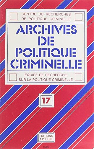 Centre de recherches politiques criminelle, tome 17