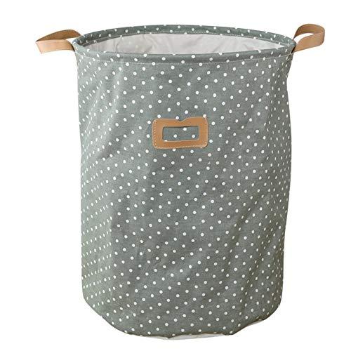 fghfhfgjdfj Folding Laundry Basket Solid Color Storage Barrel Cotton Linen Dirty Clothes Basket Toy Bra Sock Storage Basket
