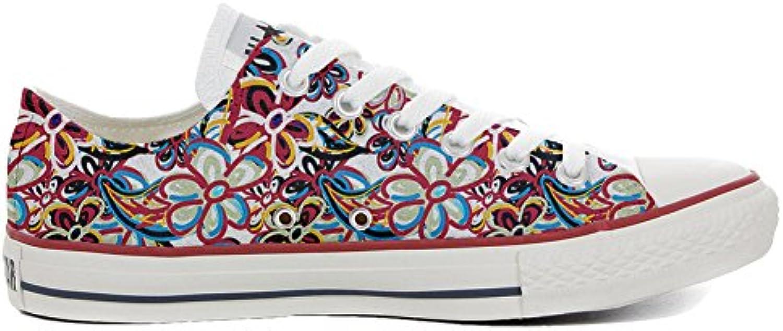 mys Converse All Star Slim Customized Personalisiert Schuhe Unisex (Gedruckte Schuhe) Floreal Abstract