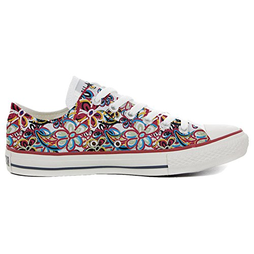 Converse All Star Chaussures Coutume (produit artisanal) Floreal Abstract