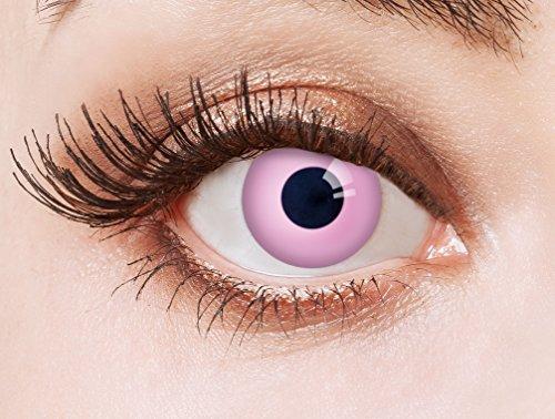aricona Kontaktlinsen Farblinsen deckend rosa farbige Kontaktlinsen ohne Stärke für Einhorn Kostüme Cosplay/bunte Jahreslinsen