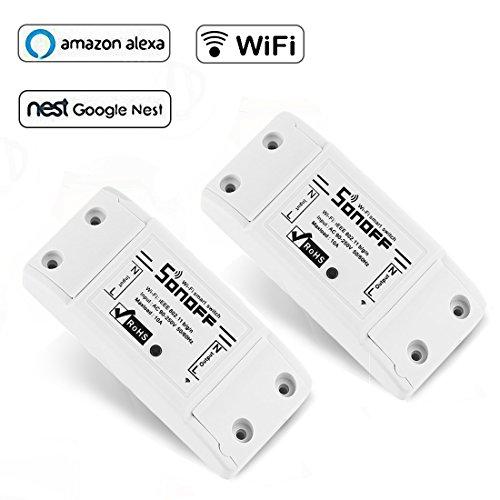 Opard Sonoff Basic Wifi Drahtlos Intelligentes Switch Intelligente Zeitschaltuhr Steuerung Kontrolle mit smart APP [2 - Passwort-organizer Elektronische