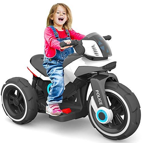 Baby-pur Elektrisches Kinderfahrzeug Kinder Motorrad Trike Elektrofahrzeug mit Licht und Sound