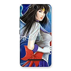 Special Angel Looks Print Back Case Cover for Micromax Canvas Juice 3 Q392