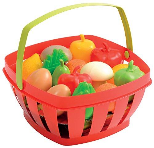 ecoiffier - 966 - cesto di frutta e verdura, modelli assortiti