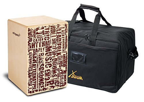 Schlagwerk CP119 Cajon X-One Styles Medium Set (Schlagfläche mit Design-Print, Größe: ca. 30 x 30 x 45 cm, Set inkl. Gigbag)