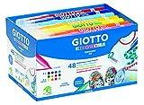 Giotto Decor Textile Schoolpack 48 Pz Colori Assortit- Pennarelli per Tessutoi