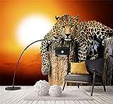 Neue Benutzerdefinierte Leinwand Kunst Big Tiger Poster Tiger Tier Wandaufkleber Leopard Tapete Wandbild Wohnzimmer Schlafzimmer Dekoration, 200 cm X 140 cm