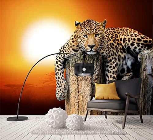 Neue Benutzerdefinierte Leinwand Kunst Big Tiger Poster Tiger Tier Wandaufkleber Leopard Tapete Wandbild Wohnzimmer Schlafzimmer Dekoration, 200 cm X 140 cm - Neue Leinwand Kunst