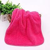 Asciugamano doppio, addensanti per bambini, asciugamani morbidi di assorbimento dell'acqua,40*60/ rosa