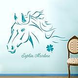 Wandtattoo Wandaufkleber Wandsticker Wanddeko Aufkleber Sticker Pferd Pferde Wanddeko Pferd Klee M343B ausgewählte Farbe: *türkis* ausgewählte Größe: *L*