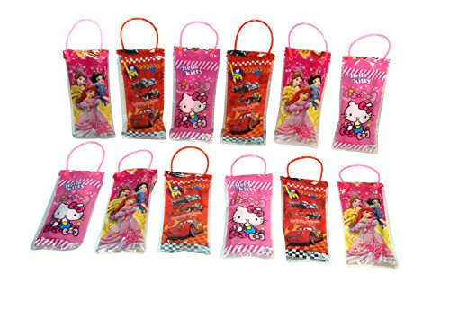 Parteet Birthday Party Return Gifts-Pack of 12 Mix Stationery Kit Set in a Bag for Kids - Assorted Colours