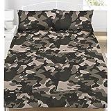 Grau Camouflage Doppel Bettbezug Set