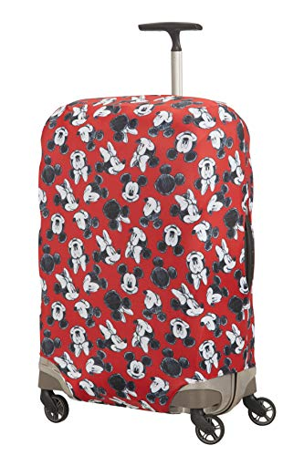 Samsonite Global TA Disney Lycra Cover per Valigia M, 67 cm, Rosso (Mickey/Minnie Red)
