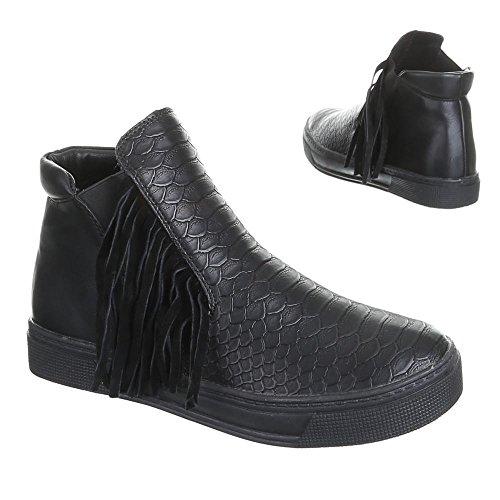 Ital-Design, Sneaker donna Nero (nero)