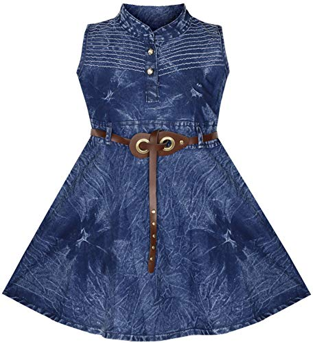 BENKILS Cute Fashion Baby Girl's Infant Jeans Frock Dress (Design 5, 3-4 Years)