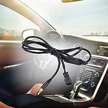 KKMOON con clavija tipo Jack de 3,5 mm para In Cable de entrada a Radio, interfaz Adaptador para iPod, iPhone y reproductor de CD, MP3, reproductor de música para BMW E39, E46, E53