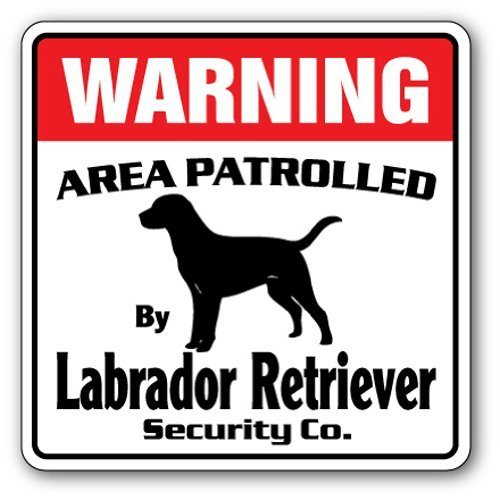 Funny Geschenk Labrador Retriever Sicherheit Schild Bereich 'Pet Hund Nadia Hunter Jagd Lab Outdoor-Metall Aluminium Schild Wandschild Dekoration - Lab Metall