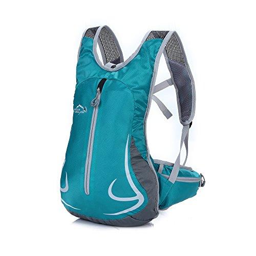 14L Impermeable Mochila de Senderismo Paquete del Alpinismo ligero mochila de viaje Escalada Marcha Camping Ciclismo Deporte Al Aire Libre (Malaquita verde)