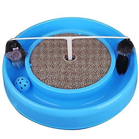 Cat Turntable Spielzeug Katze Fängt Die Maus Haustier Supplies Discs Katze Paradise Katze Kratzer Board , Blue , 41*41*5Cm