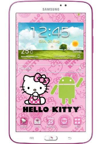 Samsung Galaxy Tab 3 Hello Kitty Design 17,7 cm (7 Zoll) Tablet (1,2 GHz Dual-Core-Prozessor, 1GB RAM, 3,2 Megapixel Kamera, WiFi, Android 4.1) weiß (Kitty Hello Bluetooth)
