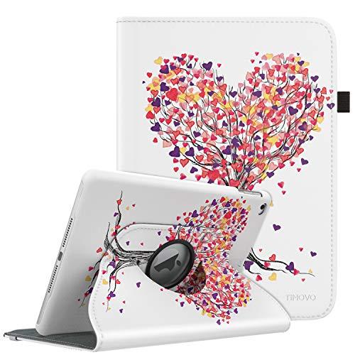 360-grad-air (TiMOVO Hülle Geeignet für iPad 9.7 2018/2017, iPad Air 2, iPad Air - 360 Grad Drehung Schutzhülle, Lederhülle Drehbar Ständer Auto Schlaf/Aufwach für Apple iPad 5/6th Gen/iPad Air 1/2 - Banyan Grün)