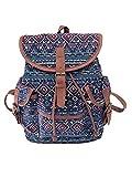 Ansenesna Rucksäcke Damen Schule Groß Canvas Elegant Taschen Freizeit Vintage Backpack Für Outdoor Reise (C)