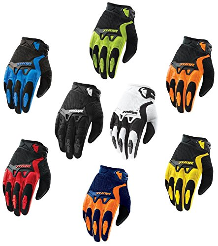 guanti thor Guanti Moto da Uomo Thor Spectrum Adulti Guanto Motocross Sportivi Quad MX Enduro ATV off Road Crash Scooter Racing Gloves (Verde