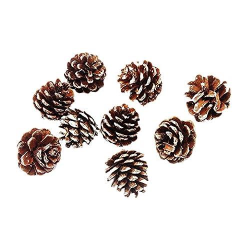 9x Milopon Weihnachten Tannenzapfen Kiefer Kegel Dekoration Flitter Weihnachtsbaum Dekorationen Ornament Home Decor