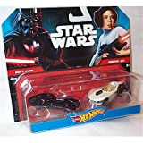 Hot Wheels – Star Wars – Carships – Darth Vader & Princess Leia – 2 Die-Cast Fahrzeuge