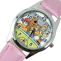 TAPORT® SCOOBY DOO Quartz Watch PINK Leather Band +FREE SPARE BATTERY+FREE GIFT BAG