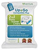 35 Pack 2-in-1 portable potty Liners, Suitable For Use With Leading Travel Potties and Pote Plus, Get 35 Up & Go Travel Liner