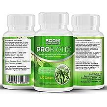 Probióticos | 10 mil millones de UFC | 120 comprimidos | Suplemento nº 1 en pribióticos y enzimas digestivas | Potentes probioticos para hombres y mujeres | 120 pastillas | Suministro para 4 meses | Bacterias beneficiosas para un sistema digestivo saludable | Seguras y eficaces | Los probióticos más vendidos